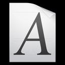 ttf, otf, type, document, font icon