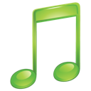 music, itunes, green, sound icon