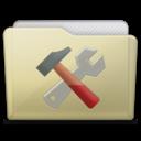 beige folder utilities icon