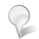 big, location, pin icon