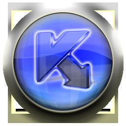 kaspersky, blue icon