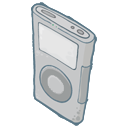 ipod, grey icon