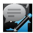 Comment, Edit icon