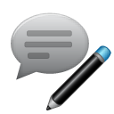 writing, write, edit, comment icon