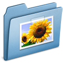 Blue, Pictures icon