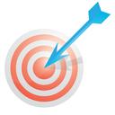 pay per click, report, target, graph, seo, analytics, ppc, web, chart, internet, marketing icon