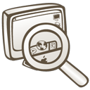 search, find, seek, computer icon