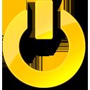 yellow, power, shut down icon