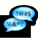 cursing, chat, talking, talk, ksayit, speak, comment icon