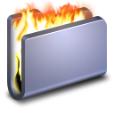 Burn Blue Folder icon