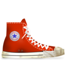 converse,red,dirty icon