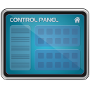 monitor, screen, control panel icon
