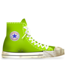 converse,lime,dirty icon