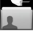 Folder User Graphite icon