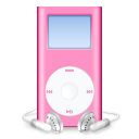 mini, pink, ipod, mp3 player icon