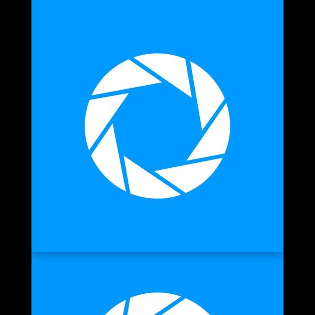 mirror, aperture icon