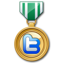 twitter, medal, prize, winner icon