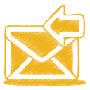 yellow mail receive icon