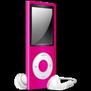 iPod Nano pink off icon
