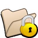 Beige, Folder, Locked icon