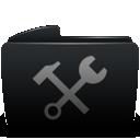 Black, Folder, Utilities icon