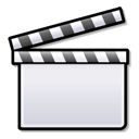 film, video, clapboard, media, movie icon