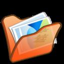 folder,orange,mypictures icon
