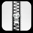 zip white icon