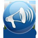 Announcement, Blog, Loudspeaker icon