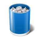 Blue, Delete icon
