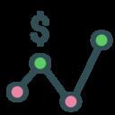 Dollar stats icon