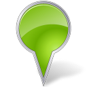 Map Marker Bubble Chartreuse icon