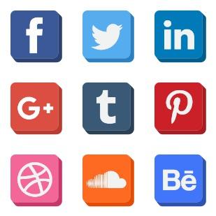 Social Media - Square icon sets preview