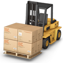 warehouse, forklift icon