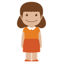 orange, person, avatar, female, girl, kid, child icon