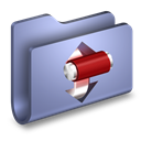 Blue, Folder, Torrents icon