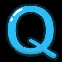 letters, blue, q, letter, alphabet icon