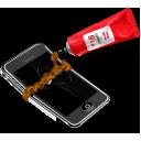 broken, iphone, apple icon