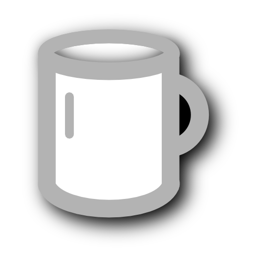cup, white icon