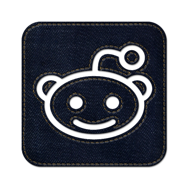 reddit, denim, square, social, jean, logo icon