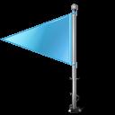 Map Marker Flag 1 Left Azure icon