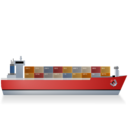 ContainerShip Right Red Ship icon