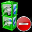 Box, Delete, Telephone icon