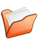 folder,orange,mydocument icon
