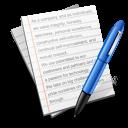 write, author, text, document icon
