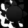 sun, black icon