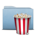 Folder Blue Pop Corn icon