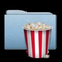 Folder Blue Pop Corn icon