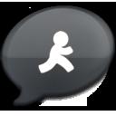 iChat Black AIM icon