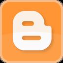 square, blog, blogging, blogger, color, orange icon